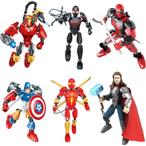 Image 1 - Avenger Super Hero Thor Captain America Ironman Superman Buildable Action Figure Building Block Toy Brick Compatible with