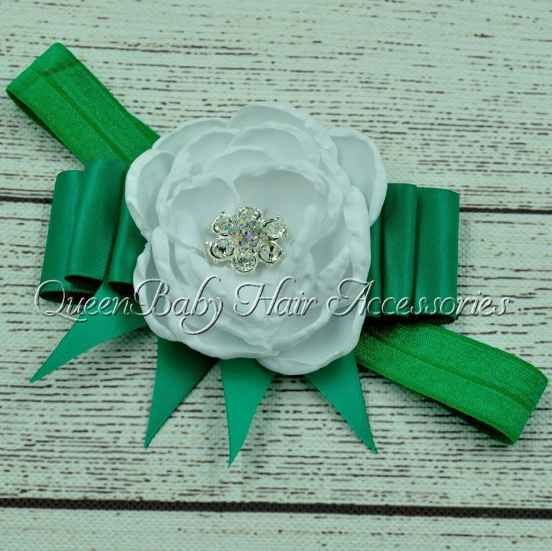 30pcs/lot Saint Patricks Day Headband Shamrock Headband Green Headband Baby Headband