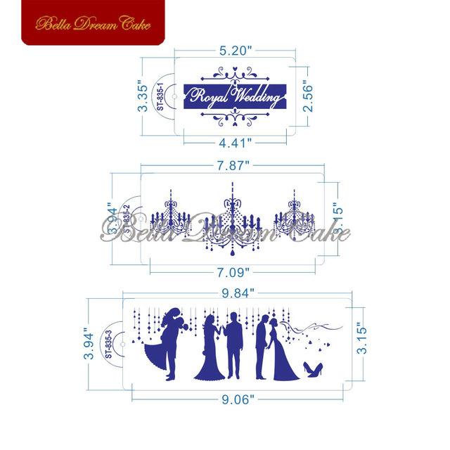 Wedding Cake Stencil 5 pcs/set