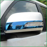 FOR Toyota Land Cruiser Prado FJ150 2010-2018 REAR SIDE-VIEW WING REARVIEW MIRROR Decorative Strip COVER TRIM Car-styling