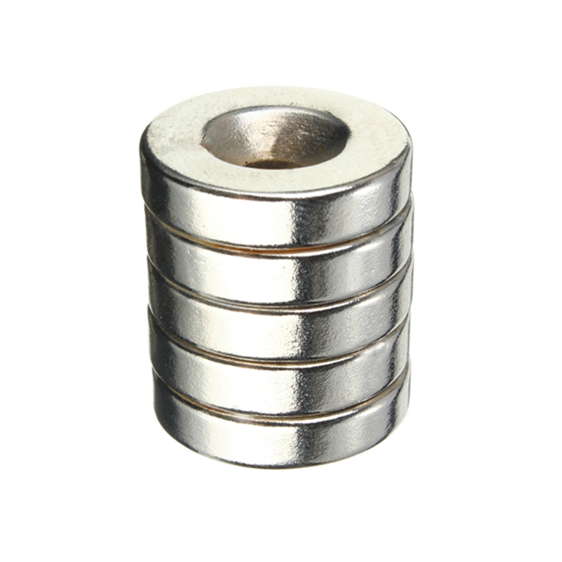 Best Price 5pcs/lot N50 Strong Powerful Round Rare Earth Neodymium Magnets 20 x 5mm Countersunk Hole 5mm