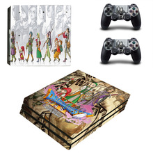 Dragon Quest XI PS4 Pro Skin Sticker For Sony PS4 PlayStation 4 Pro Console and 2 Controllers Skin Stickers Vinyl