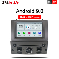 IPS 4 + 64G Android 9,0 coche DVD reproductor multimedia de la unidad para Peugeot 407 Peugeot 2004-2010 Auto radio Estéreo GPS navegación Audio vídeo