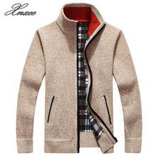 2019 Mens jacket Autumn Winter Warm Cashmere Wool Zipper jackets Pullover Man Casual Knitwear Sweaters coat Plus Size M-4XL