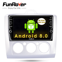 Funrover 8 IPS Android 8.0 Car Dvd Gps multimedia For Ford Focus 2 Wifi video player in dash radio tape recorder rds stereo usb