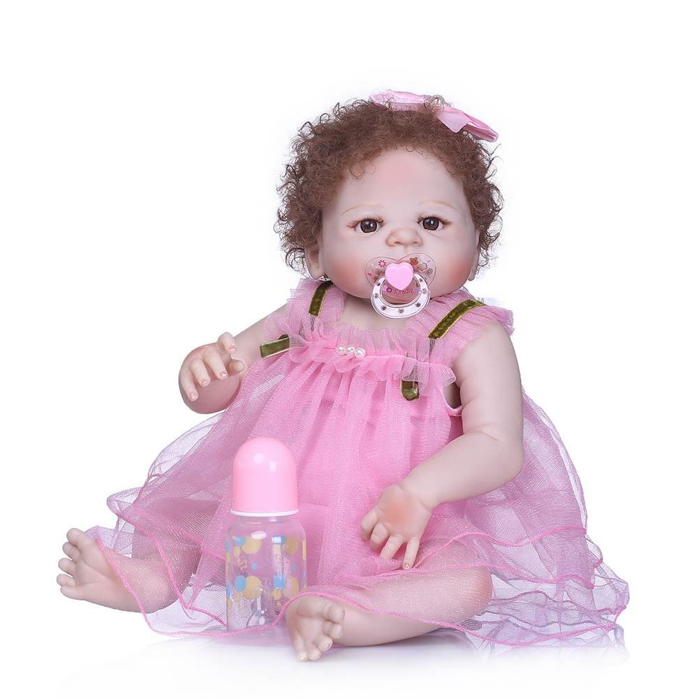 Здесь можно купить  56CM Reborn Doll Baby Toys Silicone Lifelike Jointed Newborn Playmate Photography Props BM88  Игрушки и Хобби