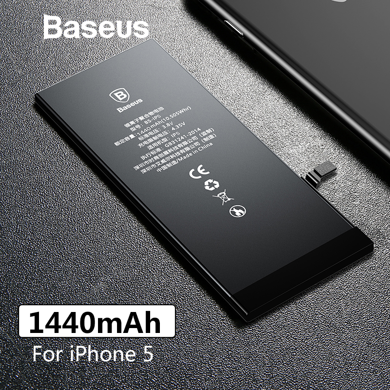 Baseus Phone-Battery Replacement Original For 5 5G 1440mah/high-Capacity With Free-Repair-Tools-Kit