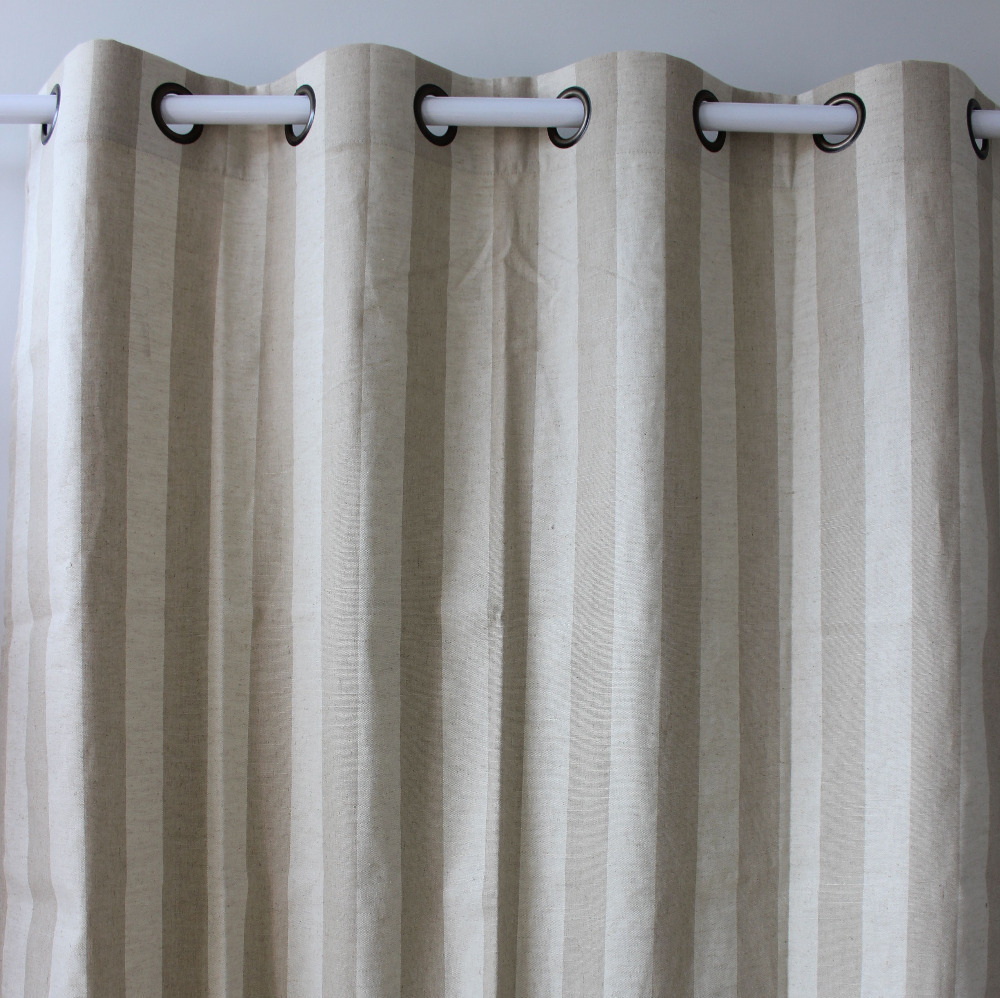Linen Stripe Shower Curtain Us 27 65 New Printed Stripes Linen Window Ready Curtains Panel Door Bedroom Living Room Store Home Decor 51 98