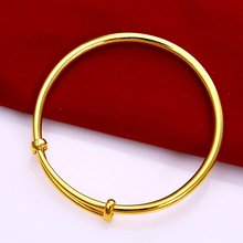 Расширяемый женский браслет с желтым золотом 60 мм * 4