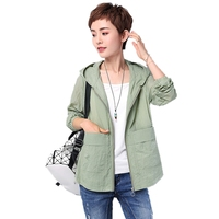 Summer New Uv Protection Jacket Long Sleeve Hooded Jacket Women Solid Color Plus Size 4XL Breathable