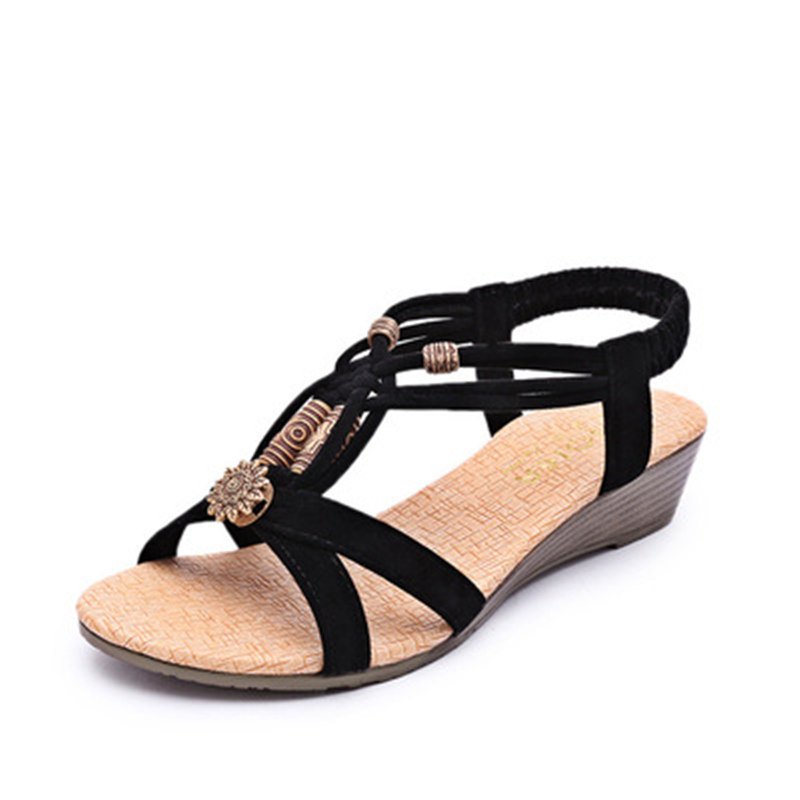 women sandals Shoes flat Sandals Low Heel Wedges Summer women Open Toe Platform Sandalias ladies shoes gladiator sandals 2017 summer shoes woman platform sandals women soft leather casual open toe gladiator wedges women shoes zapatos mujer