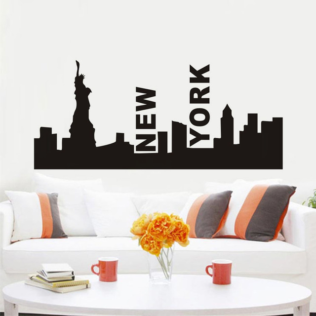 new york patung liberty kota silhouette wall sticker removable kota