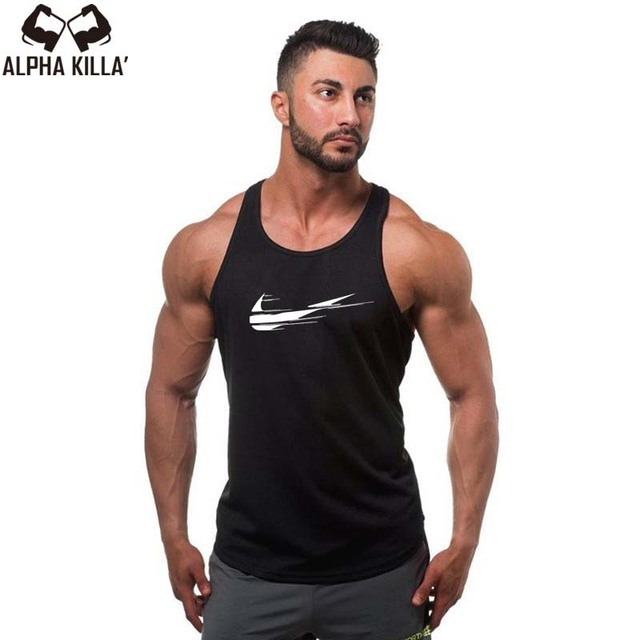 2018 New Golds gyms Brand singlet canotte bodybuilding stringer tank top men fitness T shirt muscle guys sleeveless vest