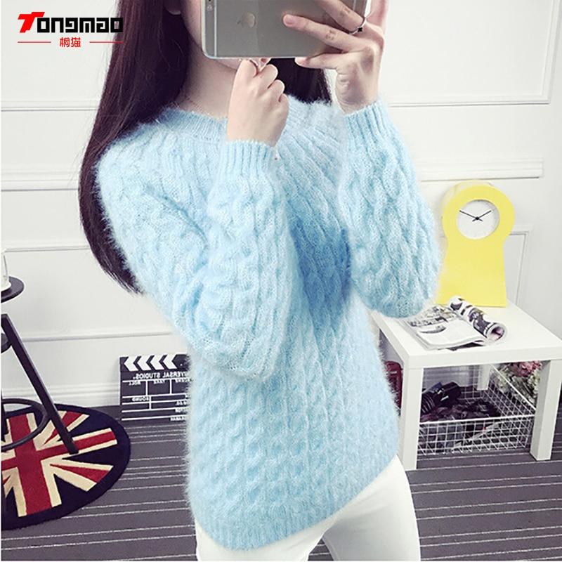 Modni casual jednobojni pleteni džemper s dnom dasaka Hidpokampus - Ženska odjeća - Foto 2