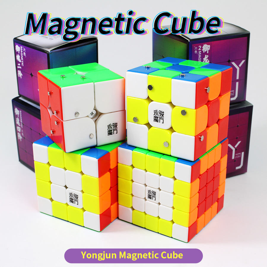 Yongjun 2x2 3x3 4x4 5x5 Magnetic Cube Speed 2x2x2 3x3x3 4x4x4 5x5x5 Magnet Cubo Magico Game Puzzle Stickerless Proffesional Toys