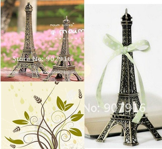 high 18cm metal craft arts 3D Eiffel Tower model French france souvenir paris home decoration gift desk office