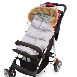 Image 1 - Baby Sleeping Bag For Stroller Baby Carriage Sack Pram Footmuff Warm Winter Changing Diaper Envelope For Newborn Baby Cocoon