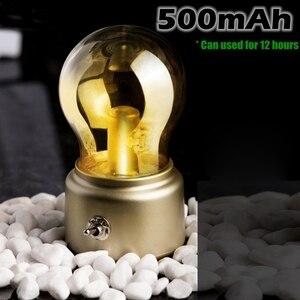 Image 3 - Vintage Bóng Đèn LED Ánh Sáng Ban Đêm Retro USB 5V Sạc Pin Tâm Trạng Đèn Bàn Viết Bàn Đèn Di Động Đèn Ngủ