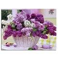Алмазный крест картина стежка Фиолетовый цветок корзины мозаика & Алмаз вышивка и Площадь полный шаблон горный хрусталь наборы для рукоделия