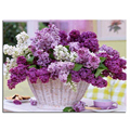 Diamond painting cross stitch Purple flower baskets mosaic&Diamond embroidery&Square full pattern rhinestone kits for needlework