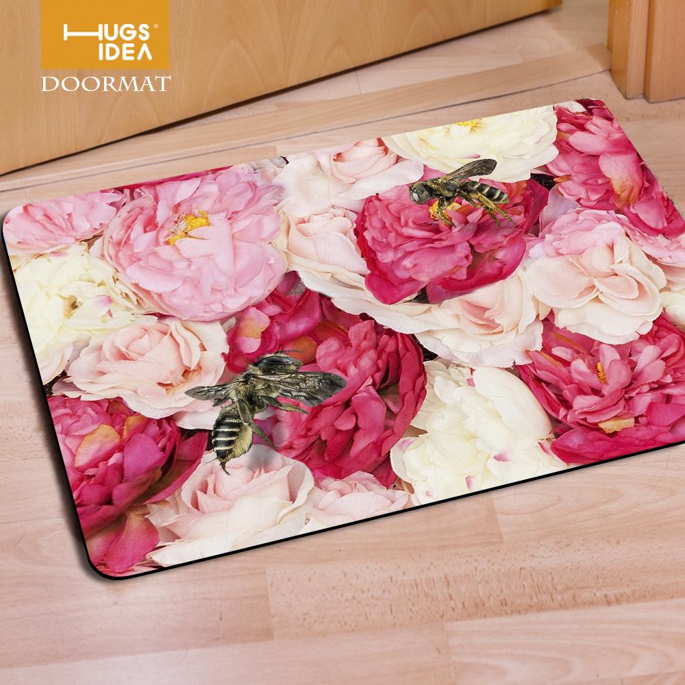 Bunte rose luxuriöse teppiche blaue blumen eingang wohnzimmer sofa carpet rutschfeste schlafzimmer küche moderne teppiche fußmatten