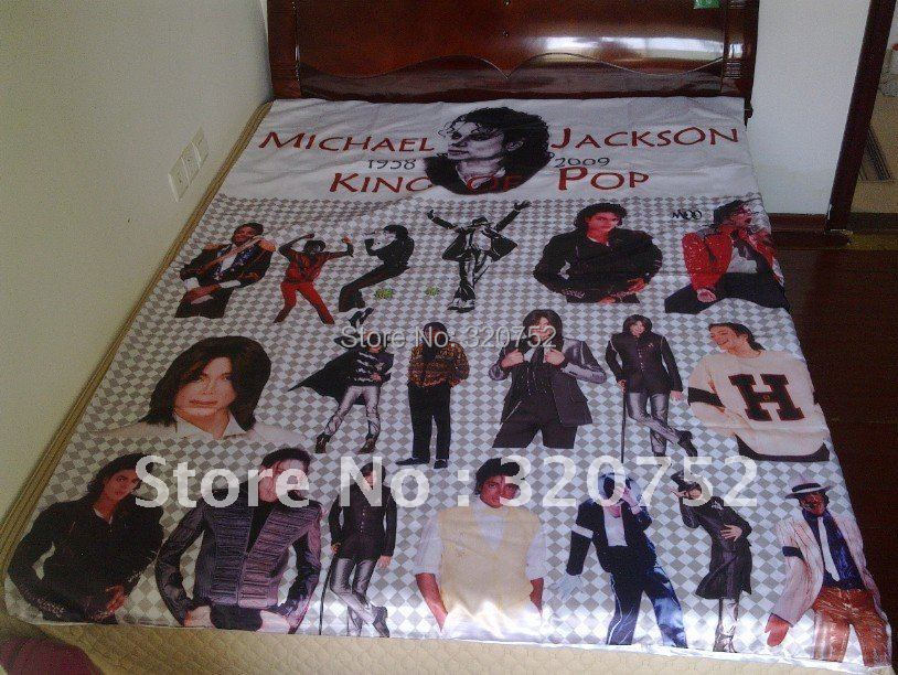 Free Shipping Wholesale Michael Jackson MJ Classic Bed Sheet Blanket 5905in X 7874in Set In