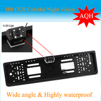 Promotion 2015 New Arrival HD CCD EU Russia Car License Plate Frame Camera Rear View Camera