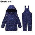 Children's Girls Boys 90% Warm Duck Down clothing set kids winter jacket overalls for girl down & parkas Suitable 2-4 years
