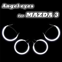 CCFL Angel Eye Halo Anneaux Kit Fit Pour Mazda 3 M3 04-08 haute Qualité CCFL Angel Eye Anneaux Pour Mazda3 Direct Fit Ange Yeux anneau
