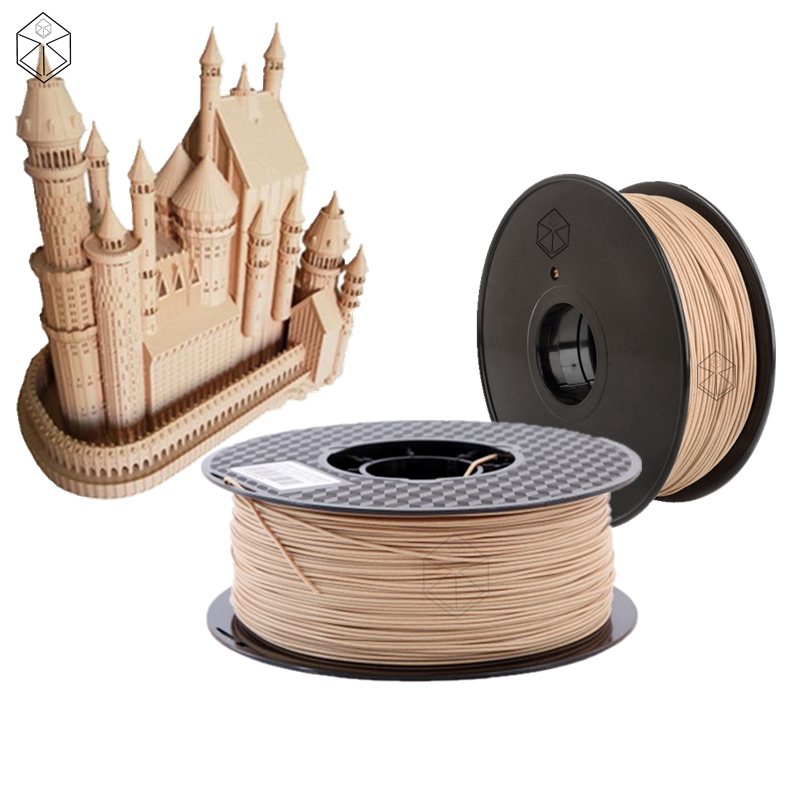 3D Printer Pla Filament Wood 1.75mm Wooden Color Printing Material Pinter 0.5kg Sample For