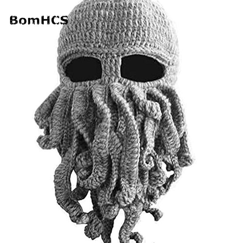 BomHCS Tentakel Octopus Cthulhu Knit Beanie Wind Maske