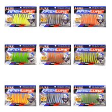 T T Shad 75mm 2.8g Plastic Fishing Bait T Shape Grub Shad Swimbait Artificial Swimbait Bass Fishing Lure Wobblers(China)
