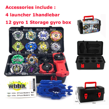 2019 Toupie Beyblader Metal Fusion B121 Set Storage Box Top Bey blede burst bey 4D With Launcher Bayblade Toys For Children Boy