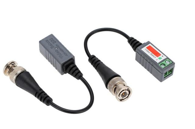 10 sztuk z tworzywa sztucznego ABS cctv video Balun akcesoria do monitoringu pasywne transceivery 2000ft odległość UTP Balun kabel bnc CAT5 kabel