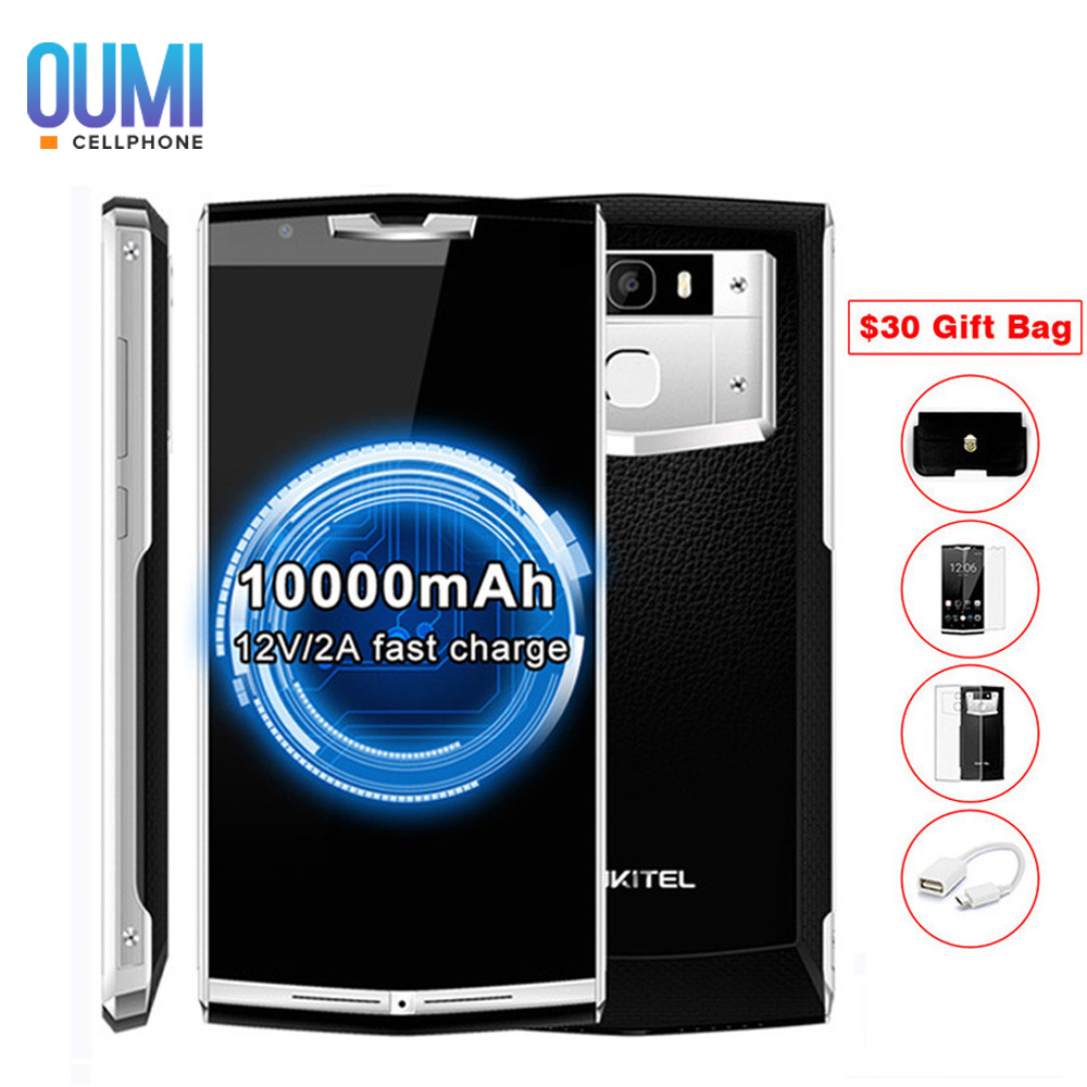 Oukitel k10000 pro 4G Smart Phone Android 7.0 10000mAh MTK6750T Octa Core1.5GHz 5.5'' Cellphone FHD 3GB 32GB 13.0MP Mobile Phone