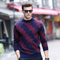 New Arrival Spring And Autumn Man Inclined Stripe Sweater All Men's Wool Sweater Male Fashion Sweater