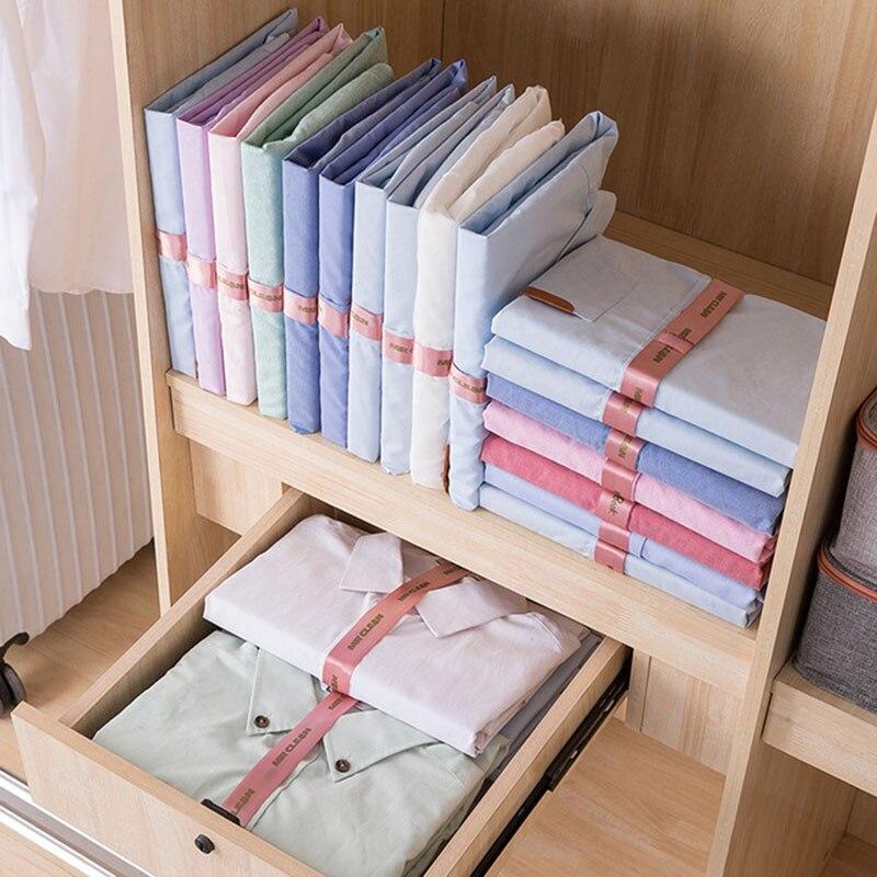 10 teile/satz Faul Kunststoff Kleidung Klapp T-shirt Ordner Wäscheklammern Closet Schnelle Geschwindigkeit Falten Organisieren Lagerung Kleiden Peg Tuch Bord
