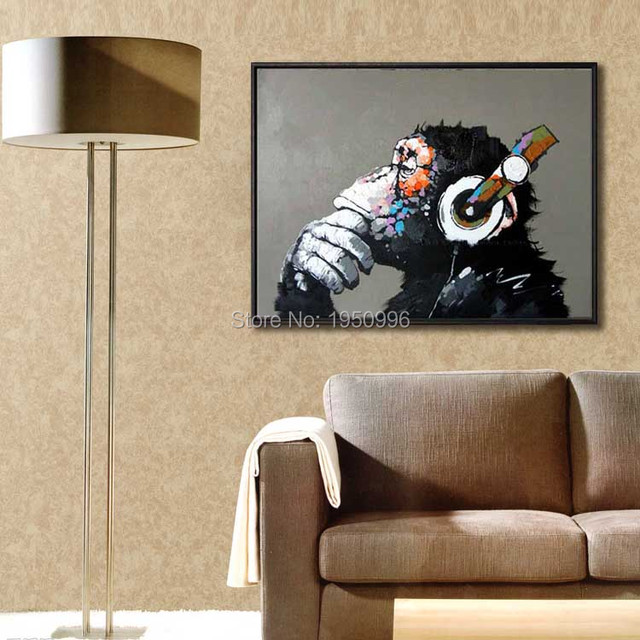 Hand Drawn The King Of The Monkey  Impression Of Figure Painting Home Hotel European Classical Abstract Decorative Painting