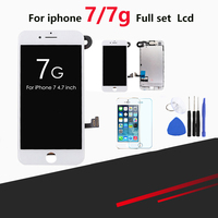 1pcs OEM LCD For iPhone 7/ 7G Display Full Set Digitizer Assembly 3D Touch Screen Replacement + Front camera + Earphone Speaker