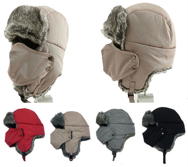 Fashion unisex winter Windproof hat with face mask Sport Outdoor ski ushanka  earflap hat bomber trapper caps bomber russian hats 0dbb4151ed7