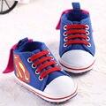 Novo Superman Batman Dos Desenhos Animados para Crianças Da Criança Das Sapatas de Bebê 2016 Nova Moda Sapatos 11 cm 12 cm 13 cm Do Bebê Meninos sapatos Primeiros Caminhantes