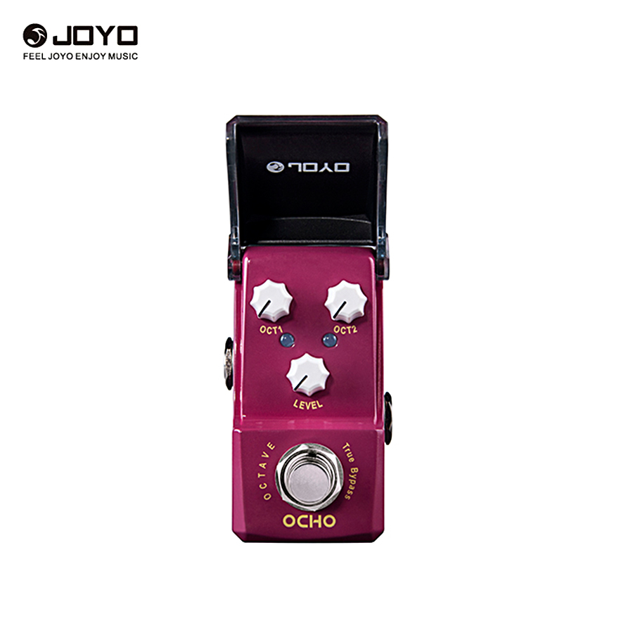 JOYO JF-330 OCHO Mini Guitar Effects Pedal Octave Pedal True Bypass Guitar Pedals With 2pcs Pedal Connectors joyo jf 34 high gain distortion us dream guitar effects with 3 knobs