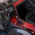 Автостайлинг  новый автомобильный интерьер  центральный пульт  изменение цвета  углеродное волокно  литье  наклейки для VW Passat 2012-2015