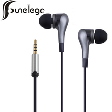 Funelego New Style Phone Earphone With Microphone 1.2 MM Length Wired Headset 11 Colors Bass Sports FW-04 Model Music Earplugs