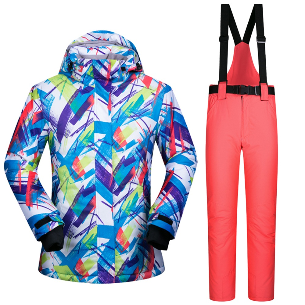 ФОТО High Quality Famous 686 Brand Snow Ski Jackets Print Waterproof Women Snow Suits Outdoor Sports Men Skiing Clothes -30 Deegree