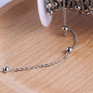 Image 2 - Onwear 10 מטר/גליל נירוסטה כדור חרוזים שרשרת מחרוזת שרשרת עבור תכשיטי ביצוע diy אביזרים