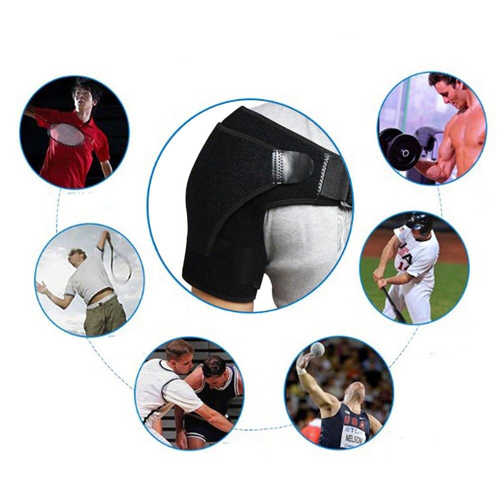 Adjustable Shoulder Brace Support Strap Wrap Belt Band Pad Shoulder Care Bandage Black 2