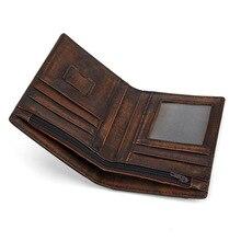 Moxi мужской бумажник с масляно-восковой пропиткой воловья кожа короткий кошелек мужские кошельки из натуральной кожи портмоне клатч открытый ретро короткий кошелек