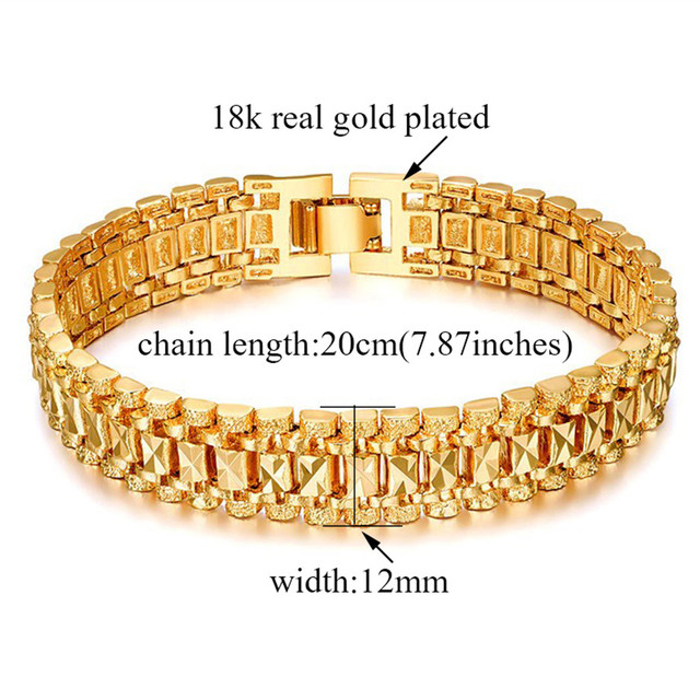 Chunky Mens Hand Chain Bracelets Male Wholesale Bijoux Silver/Gold Color Chain Link Bracelet For Men Jewelry pulseira masculina