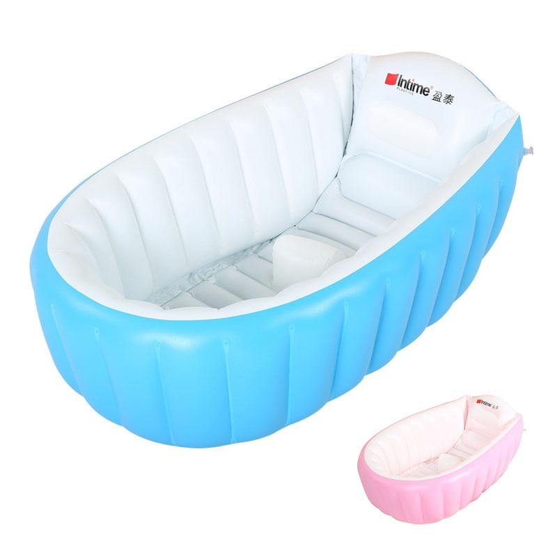 Bébé Baignoire Enfants Baignoire Portable Gonflable de Sécurité de Dessin Animé Épaississement Lavabo Baignoire Bébé pour Nouveau-nés Piscine 0-3 t